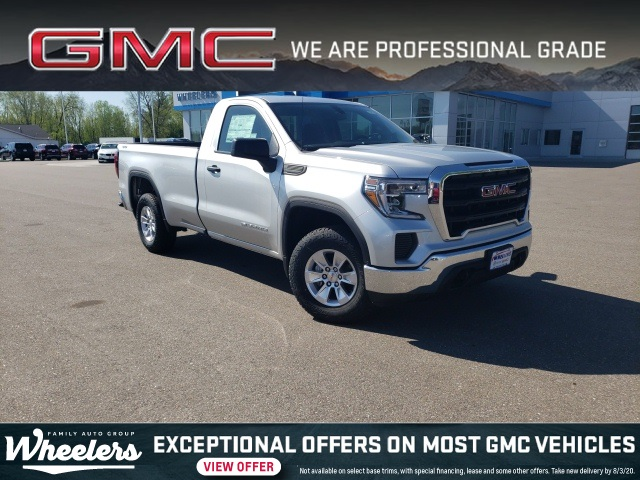 New 2020 Gmc Sierra 1500 Base 2d Standard Cab In Wisconsin Rapids 23219 Wheelers Family Auto Group